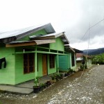 Nice, green houses in Sumatra