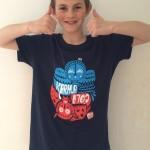 Max wearing Karma Cola t-shirt