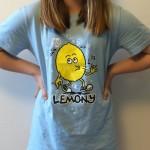 Vanilla wearing a lemony t-shirt