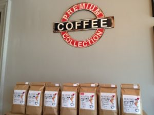 Collection of Mr Duffin's coffees in the Coffee Den