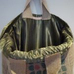 Olive Green Lining of 'Coffee Tree' Sustainable handbag