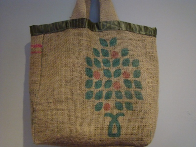 Upcycled coffee sack