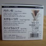 Coffee dripper box side with information