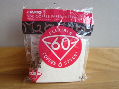 Hario V60 coffee paper filter - Size 01