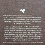 Back cover of the World Atlas of Coffee