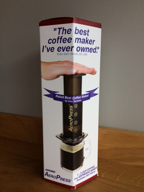 AeroPress coffee maker box