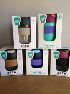 A selection of Keep Cups