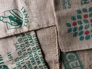 Patchwork of coffee bags